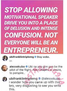 "fra - ""I Am Disgusted At Your Comment"" – Ubi Franklin Fires Back At Alexx Ekubo"