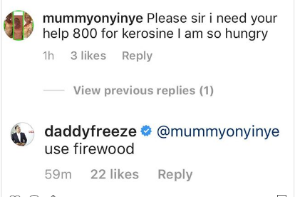 free - Between Daddy Freeze And Hungry Follower Who Begged Him For N800 To Buy Kerosene