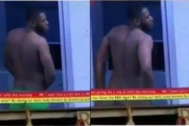 BBNaija 2019: Frodd Strips For Esther; Flashes Bare Butt On Live TV (VIDEO)