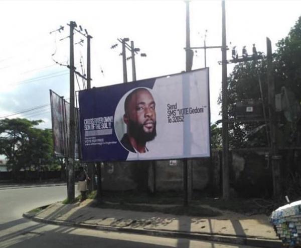 gedoni billboard 600x493 - BBNaija 2019: Campaign Billboard For Gedoni Spotted In Calabar