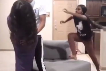 Lady Activates Karate Move After Walking In To Meet His Boyfriend With Another Babe