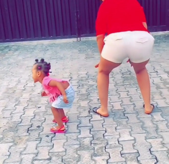 Former BBNaija Housemate, Gifty and daughter