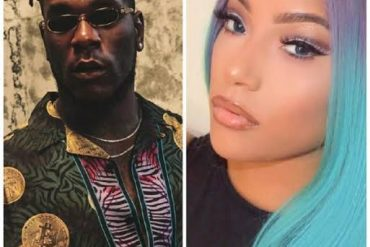 Burna Boy Kisses His Girlfriend, Stefflon Don Inside Car (Video)