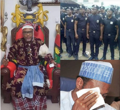 President Buhari, Nnamdi Kanu and IPOB members