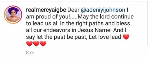 mer - Mercy Aigbe Reacts As Adeniyi Johnson Congratulates Ex-Wife, Toyin Abraham