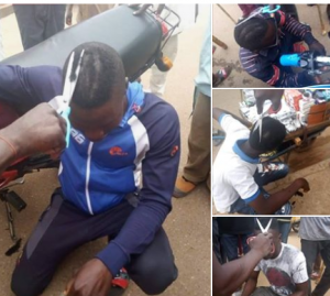 taskforce shaved youngmen hair in niger state