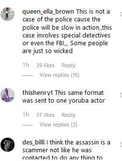 Tonto Dikeh's comment section