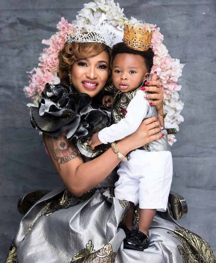 Tonto Dikeh and her son, Kind Andre