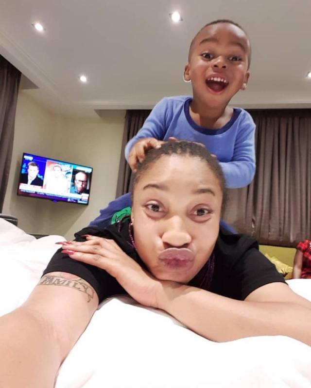 Tonto Dikeh and her son, King Andre
