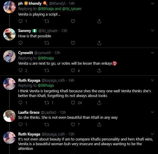 venita reactions - BBNaija 2019: Nigerians Slam Venita For Giving Gedoni 'Green Light'