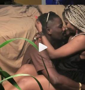 Ycee filmed kissing ladies breadt
