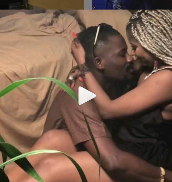 Ycee filmed kissing ladies breadt