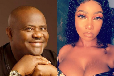 Governor Nyesom Wike and Tacha