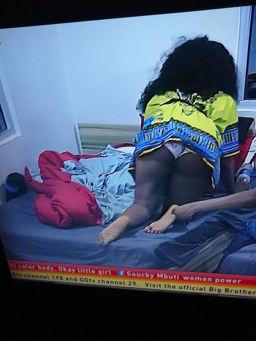 10205004 eei3um2xyaamfpq jpega9747f89313214b4a7ef7f7d8f17aba5 - Fans React As Tacha Accidentally Flashes Undies While Climbing Bed (Photo)
