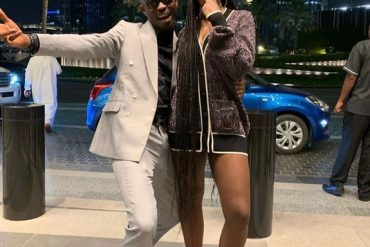 [Photos]: Comedian Mr Jollof Pictured With Tiwa Savage In Dubai