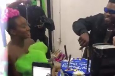 DJ Cuppy Surprises Broda Shaggi With Birthday Cake (Video)