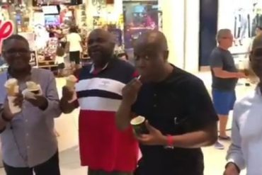 Billionaire, Aliko Dangote Catches The Gelato Bug (Video)