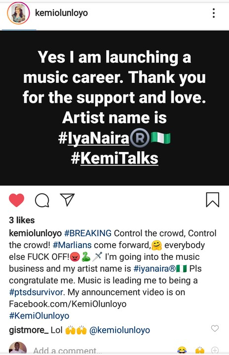 10258910 screenshot20190920162027 jpeg597de9318310572a847b87307f20902e - Kemi Olunloyo Set To Launch Her Music Career