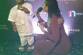 The female presenter and Shatta Bandle