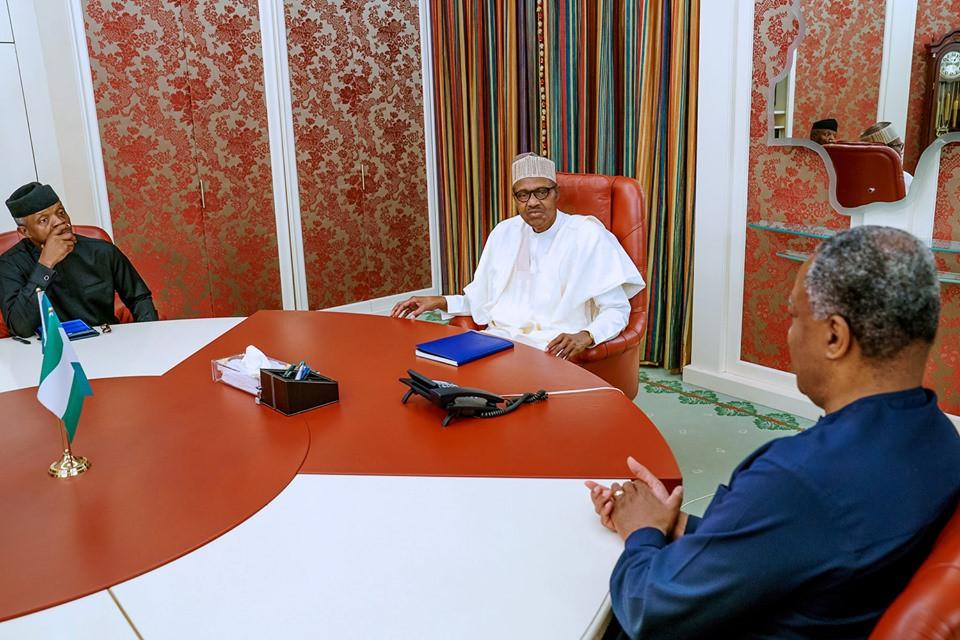 President Buhari, Yemi Osinbajo, Geoffrey Onyeama