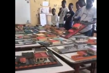 Nigerian Lecturer Destroys Projects Done By Students (Video)