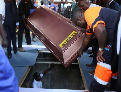 Robert Mugabe coffin