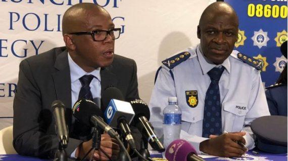 South Africa's deputy police minister Bongani Mkongi