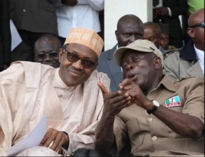 President Buhari and Adams Oshiomhole