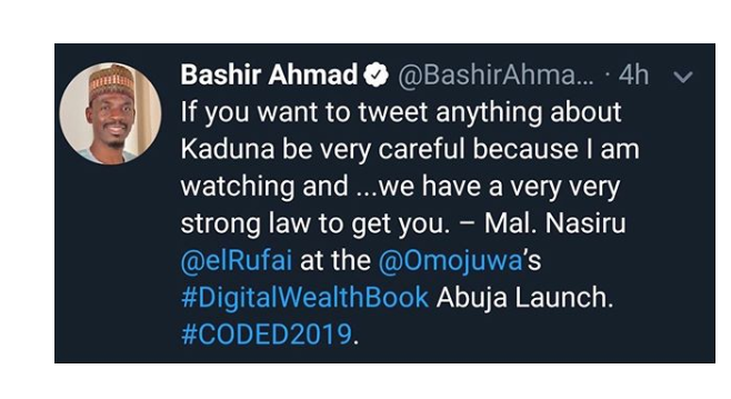 Bashir Ahmed Tweet