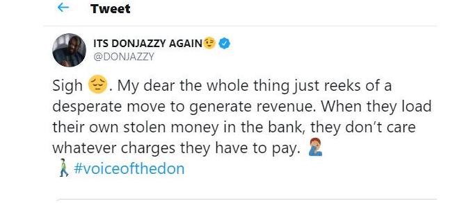 Don Jazzy Tweet