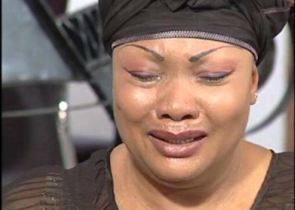 Eucharia Anunobi in tears