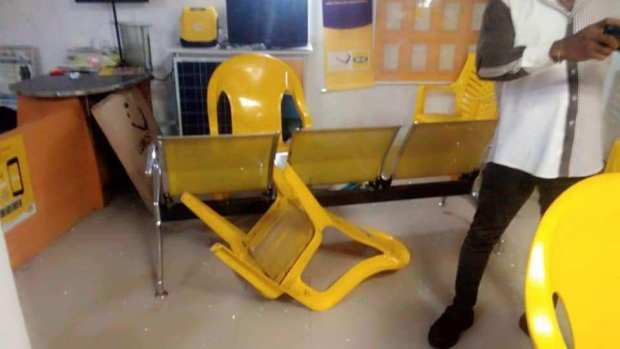 MTN office, Uyo attacked by angry Nigerians