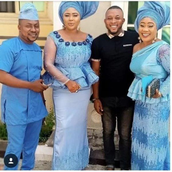 Popular Yoruba actor, Segun Ogungbe's wives, Omowunmi Ajiboye and Atinuke