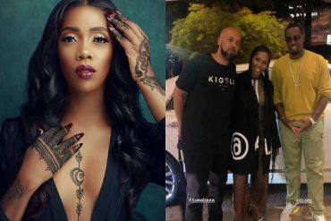 Tiwa Savage Hangs Out With American Rapper, Diddy In Atlanta
