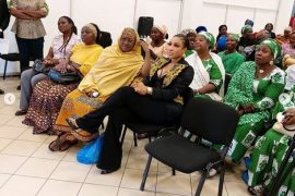 Tonto Dikeh, in black outfit
