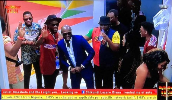 Tuface and BBNaija Housemates
