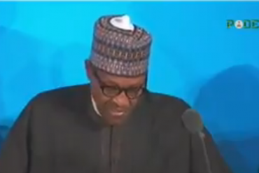 President Muhammadu Buhari at the UN general Assembly