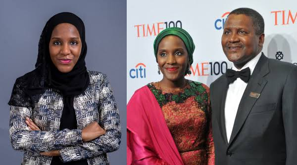 Halima Dangote and her father, Aliko Dangote