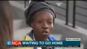 The stranded Nigerian woman