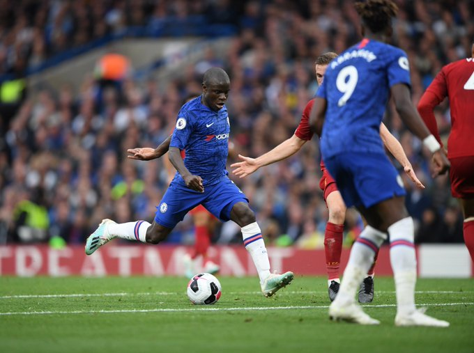 Kante against Liverpool