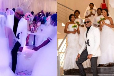 Pretty Mike Arrives Wedding With 5 Ladies Dressed In Wedding Gown
