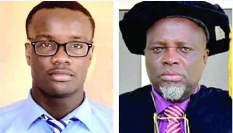 Master Akachukwu Onyiuke and Prof Ishaq Oloyede