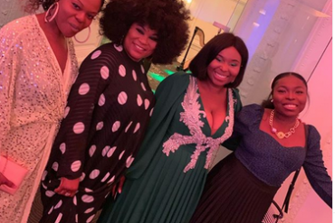 Sola Sobowale Hangs Out With Her Twin Daughters (Photos)