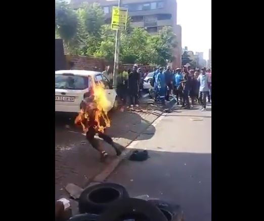The man set on fire