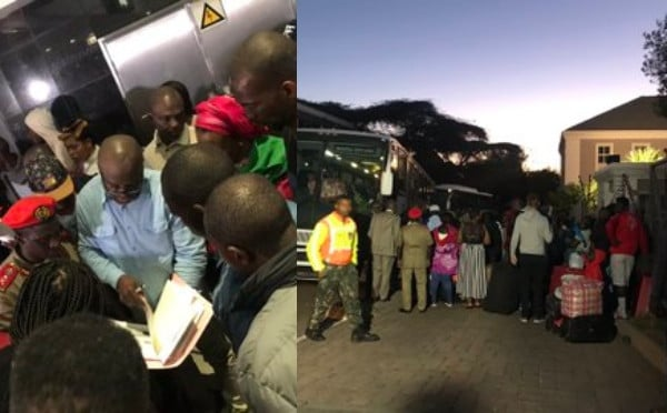 First Batch Of Nigerians Seen leaving South Africa (Video)