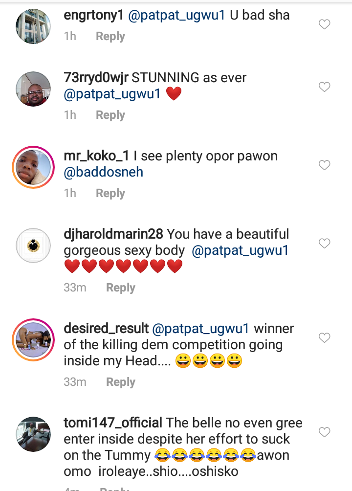 Pat Ugwu's comment section