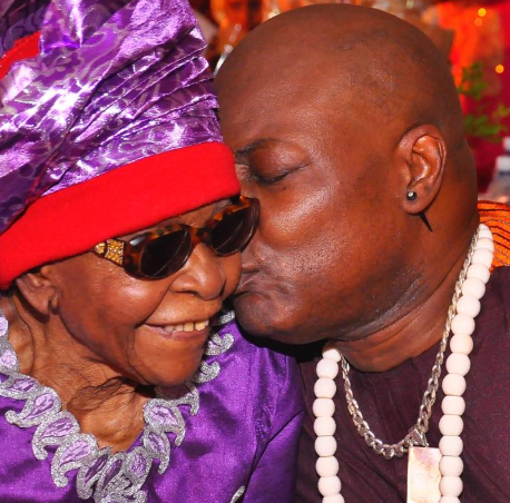 Charly Boy and mom