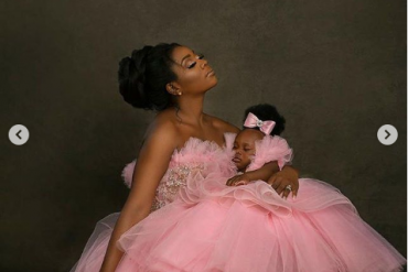 Super Eagles Player, Ogenyi Onazi, Wife Celebrate Their Daughter's First Birthday