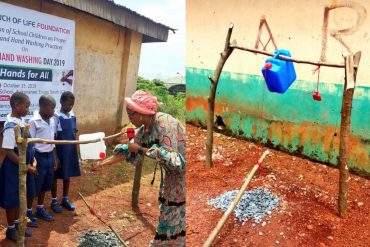 'Enugu First Lady Commissions 'Tippy Taps' For Primary School Pupils