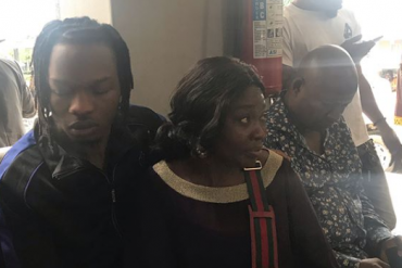 [Photos]: Naira Marley Poses With His Mother In Court